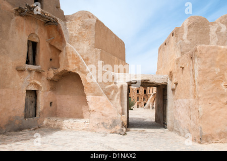 South of Tunisia, Tataouine,the Ksar Ouled Soltane,ancient berber fortified granary - Stock Photo
