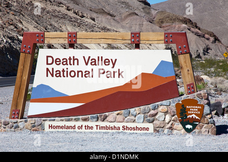 Death Valley N.P. Entrance, USA - Stock Photo