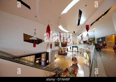 inside the crystals at citycenter retail district shopping mall Las Vegas Nevada USA - Stock Photo
