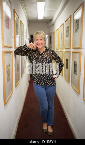 Dylan Thomas Prize 2012 finalist Andrea Eames, author of  'The White Shadow'. - Stock Photo