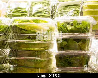 Grand Central Market, Salad Containers, Eli Zabar's, Grand Central Market, NYC - Stock Photo