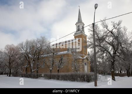 former st josephs catholic church in Forget Saskatchewan Canada - Stock Photo