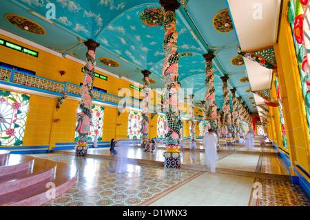 The Grand Cao Dai Temple, Tay Ninh, Vietnam - Stock Photo