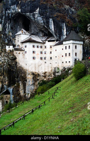 Predjama Castle a Renaissance castle built within a cave mouth in south-central Slovenia. - Stock Photo