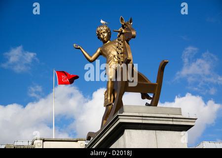 Powerless Structures Fig 101 4th plinth Trafalgar Square London UK - Stock Photo