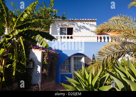 Summer cottage near Lagos in the sunlight, Algarve, Portugal, Europe - Stock Photo