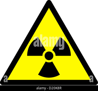 Warning sign in front of radioactivity, radioactive substances and ionising radiation. - Stock Photo