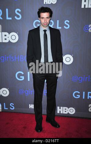 New York, USA. 9th January 2013. Alex Karpovsky at arrivals for HBO's GIRLS Season Two Premiere, NYU Skirball Center, - Stock Photo
