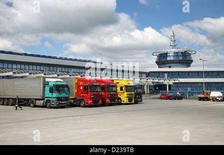 Koroszczyn, Poland, truck terminal near the border point Kukuryki - Stock Photo