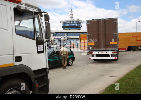 Koroszczyn, Poland, the truck terminal Koroszczyn - Stock Photo