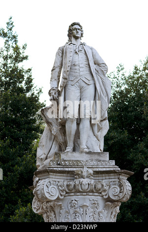 Rome, Italy, Goethe monument in front of the Villa Borghese - Stock Photo