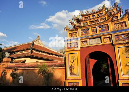 One of the gates at the Royal Citadel, Hue, Vietnam - Stock Photo