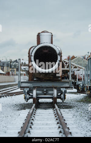 Aberystwyth, Wales, UK. 18th January 2013. Some snowy weather but Aberystwyth on the west coast of Wales escapes - Stock Photo