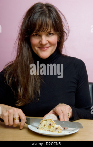 Berlin, Germany, cafe owner and author Cynthia Barcomi - Stock Photo