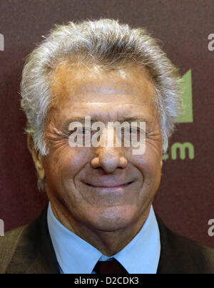 US actor and director Dustin Hoffman arrives for the premiere of his new movie 'Quartet' at Deutsche Oper in Berlin, - Stock Photo