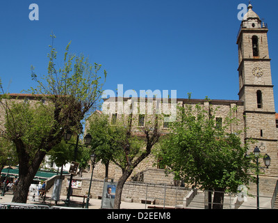 A mighty church in Ajaccio on Corsica - Stock Photo