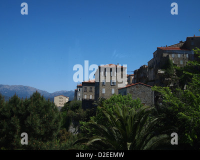 An idyllic village in Sartene on Corsica - Stock Photo