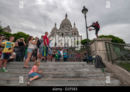 The Basilica of the Sacred Heart of Paris, commonly known as Sacré-Cœur Basilica,Paris,Turkey - Stock Photo