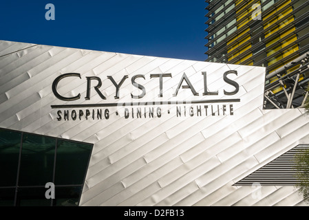 The Crystals shopping, dining, and entertainment complex at CityCenter in Las Vegas. - Stock Photo
