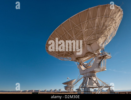 Antennas of Very Large Array Radio Telescope (VLA), a radio astronomy observatory near Datil, New Mexico, USA - Stock Photo