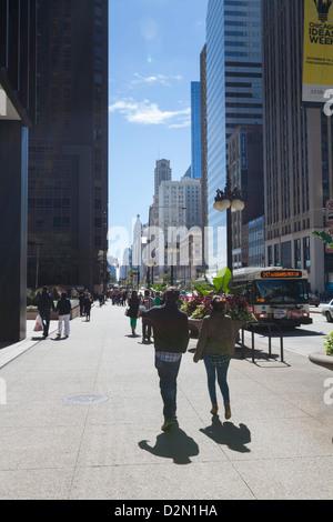 North Michigan Avenue, Chicago, Illinois, United States of America, North America - Stock Photo