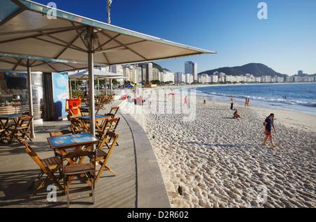 Beachside cafe, Copacabana, Rio de Janeiro, Brazil, South America - Stock Photo