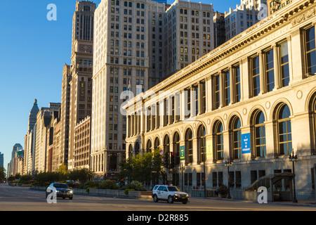 Tall buildings on North Michigan Avenue, Chicago, Illinois, United States of America, North America - Stock Photo