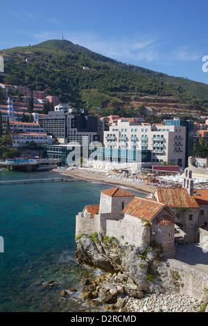 Walls of the Old Town, Budva, Montenegro, Europe - Stock Photo