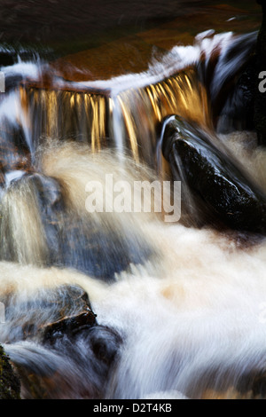 Waterfall in Whitfield Gill near Askrigg, Wensleydale, North Yorkshire, Yorkshire, England, United Kingdom, Europe - Stock Photo