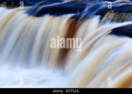 Abstract impression of Upper Aysgarth Falls, Wensleydale, North Yorkshire, England, United Kingdom, Europe - Stock Photo