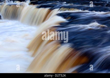 Upper Aysgarth Falls, Wensleydale, North Yorkshire, England, United Kingdom, Europe - Stock Photo