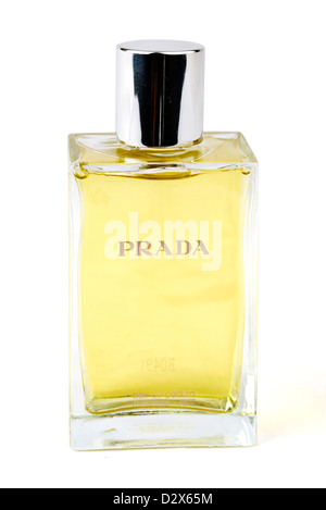 Bottle of Prada Eau de Parfum - Stock Photo