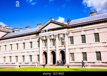 Stephen Lawrence Gallery and University of Greenwich, Queen Anne Court, Old Royal Naval College, Greenwich, London, - Stock Photo
