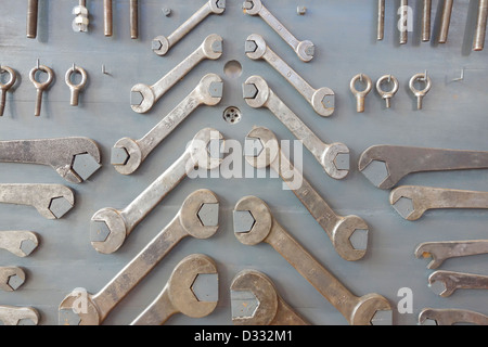 mercado de motores madrid spain flea market wrench - Stock Photo
