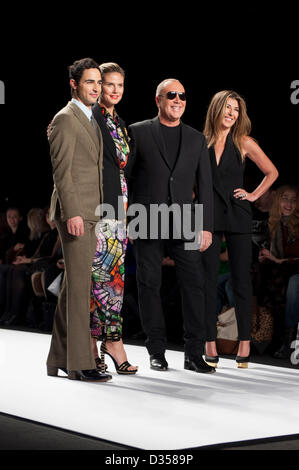 Judges for the Project Runway season 11 Finale Show. Zac Posen, Heidi Klum, Michael Kors, and Nina Garcia. - Stock Photo