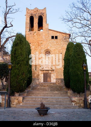 Pals church, Pals is a medieval town in Catalonia, a few kilometres from the sea in the heart of the Bay of Emporda,Girona - Stock Photo