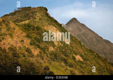 Twin ridges, Volcan Baru, Panama - Stock Photo