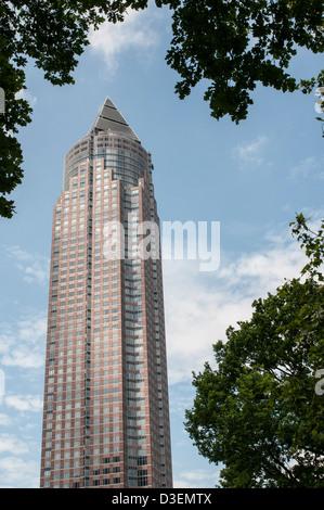 Messeturm Frankfurt am Main, Detail, Architektur, Architecture, - Stock Photo