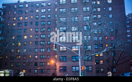 The massive NYCHA Elliot Houses complex of apartments in Chelsea in New York - Stock Photo