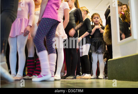 Children wait for auditions in Friedrichstadt-Palast in Berlin,Germany, 19February 2013. The Friedrichstadt-Palast's - Stock Photo
