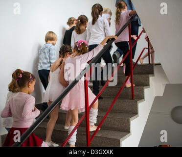 Children wait for the start of auditions at the Friedrichstadt-Palast in Berlin,Germany, 19February 2013. The - Stock Photo