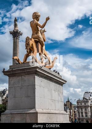 Powerless Structures, Fig. 101, Fourth Plinth, Trafalgar Square - Stock Photo