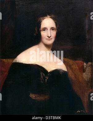 Mary Shelley, author of the Gothic novel Frankenstein - Stock Photo