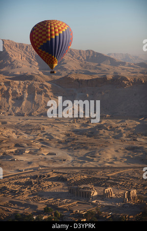 Dawn Flight Over Luxor By Hot Air Balloon - Stock Photo