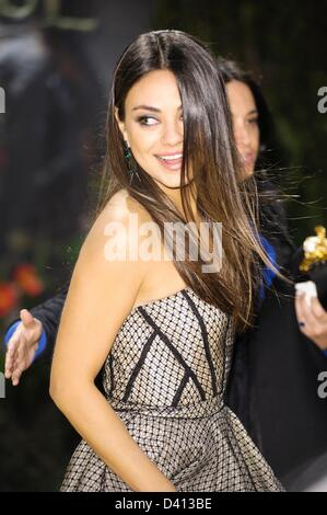 Mila Kunis attends the Oz the Great and Powerful European Premiere on 28/02/2013 at Empire Leicester Square, London. - Stock Photo