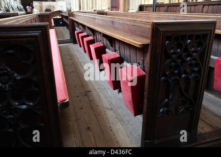 Bath Abbey, in Bath  a pew - Stock Photo