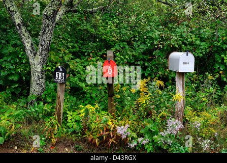 Rural mailboxes. - Stock Photo