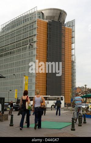 European Parliament headquarters in Brussels, Belgium - Stock Photo