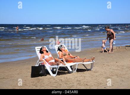 Majori Beach, Jurmala, baltic Sea, Riga, Latvia - Stock Photo