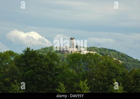Castle Mühlburg, Drei Gleichen, a medieval castle ensemble, Thuringia, Germany, eine der drei Burgen in Thüringen, - Stock Photo
